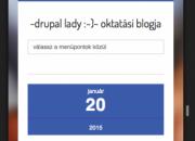 Drupal lady gyorstipp: responsive a weblapod? Ellenőrizd!