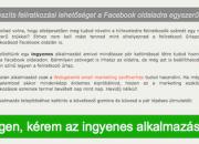 Webgalamb feliratkozási blokk Facebook oldalon