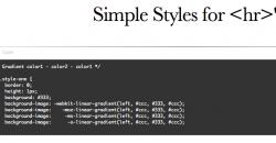 Weblap tagolás kicsit másképp, avagy hogyn dobjuk fel a <hr> tag-et?