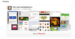 Pinterest tábla, valamint profile beágyazása weboldalba